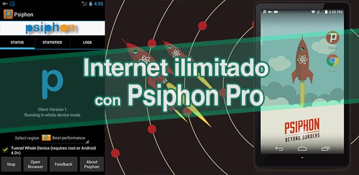 Psiphon pro internet ilimitado